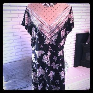 Issac Mizrahi Border Floral print dress